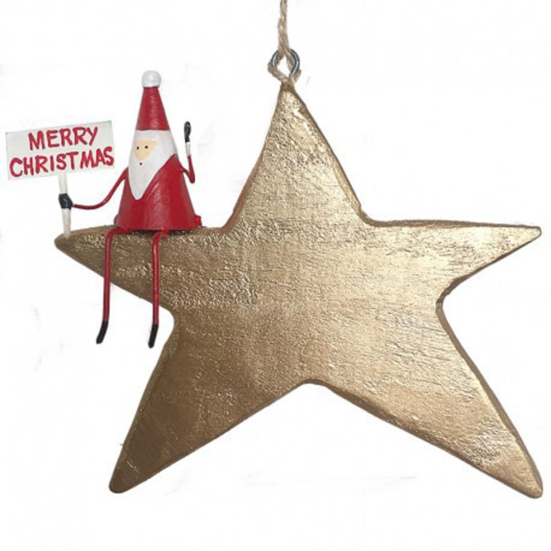 Tin Santa on Gold Star image 0