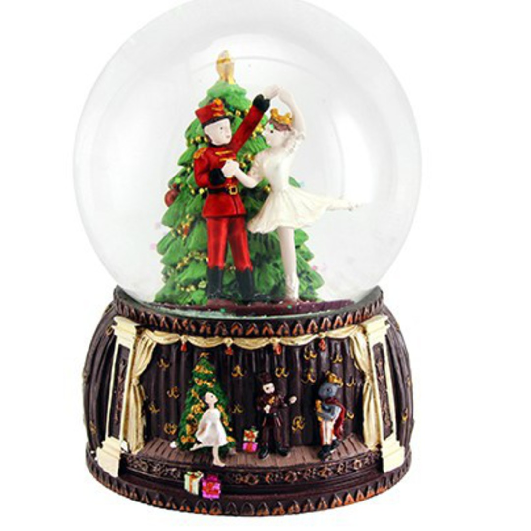 Musical Snow Globe, Nutcracker 10cm image 0