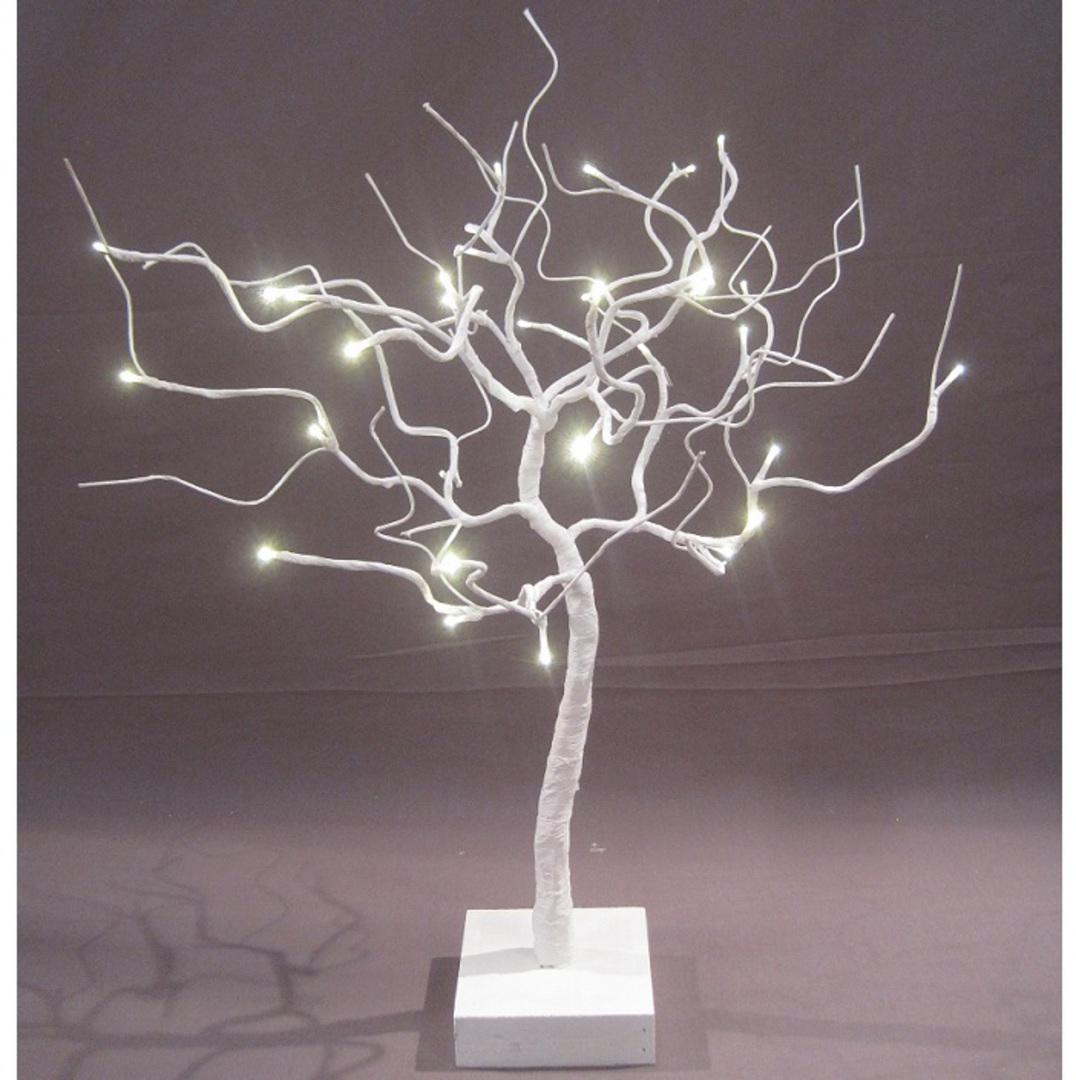 White Shrub 53cm, 32 LED Lights image 0
