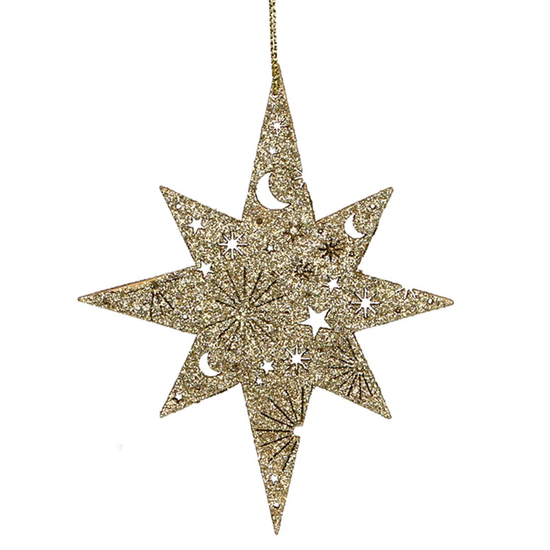 Wood Bethlehem Star 13cm SOLD OUT image 0
