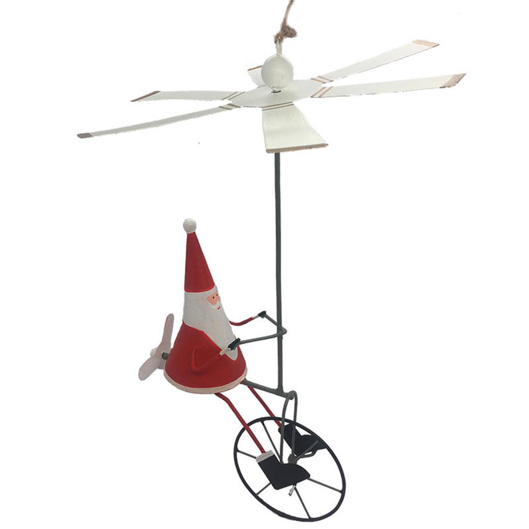 MAXI Tin Santa on Air-Bike 30cm image 0