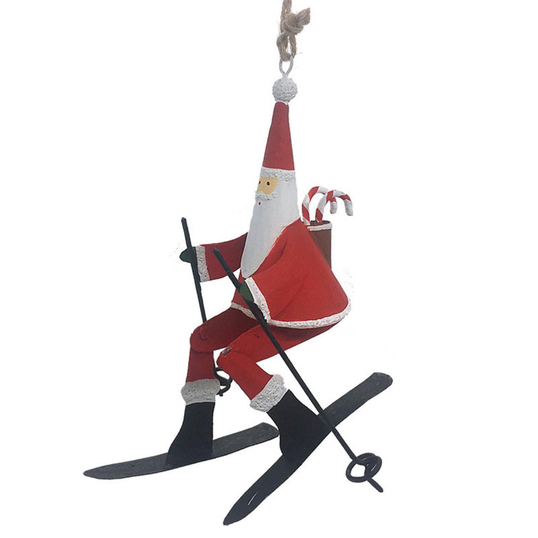 Tin Santa on Skis 12cm image 0