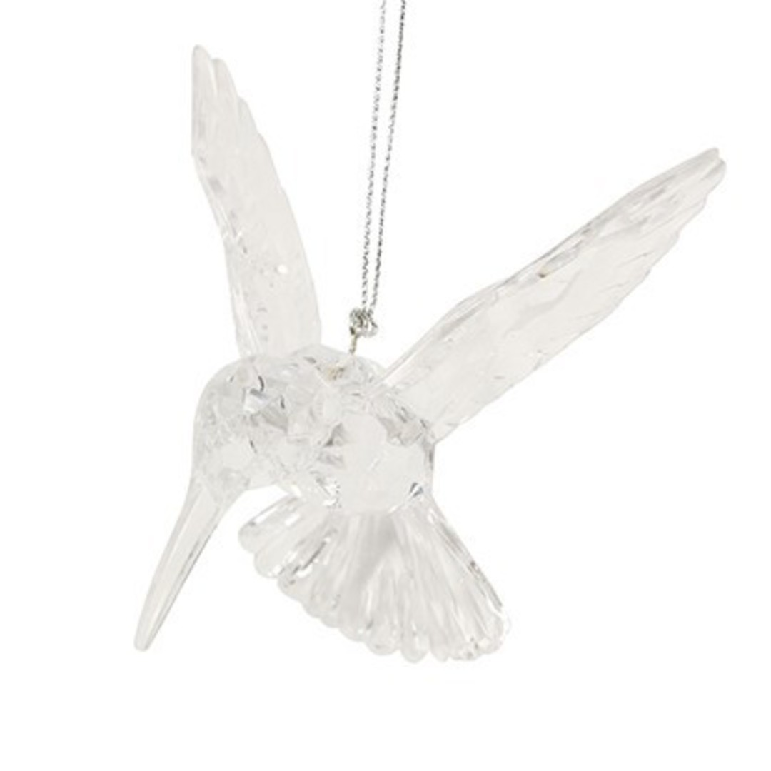 Clear Acrylic Humming Bird 10cm image 0