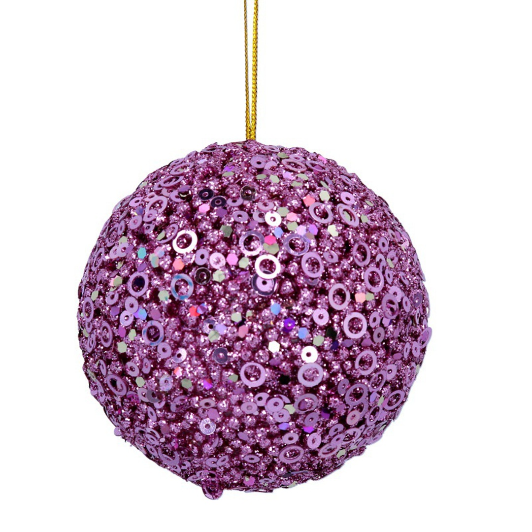 Sequin Ball Pink 7cm image 0