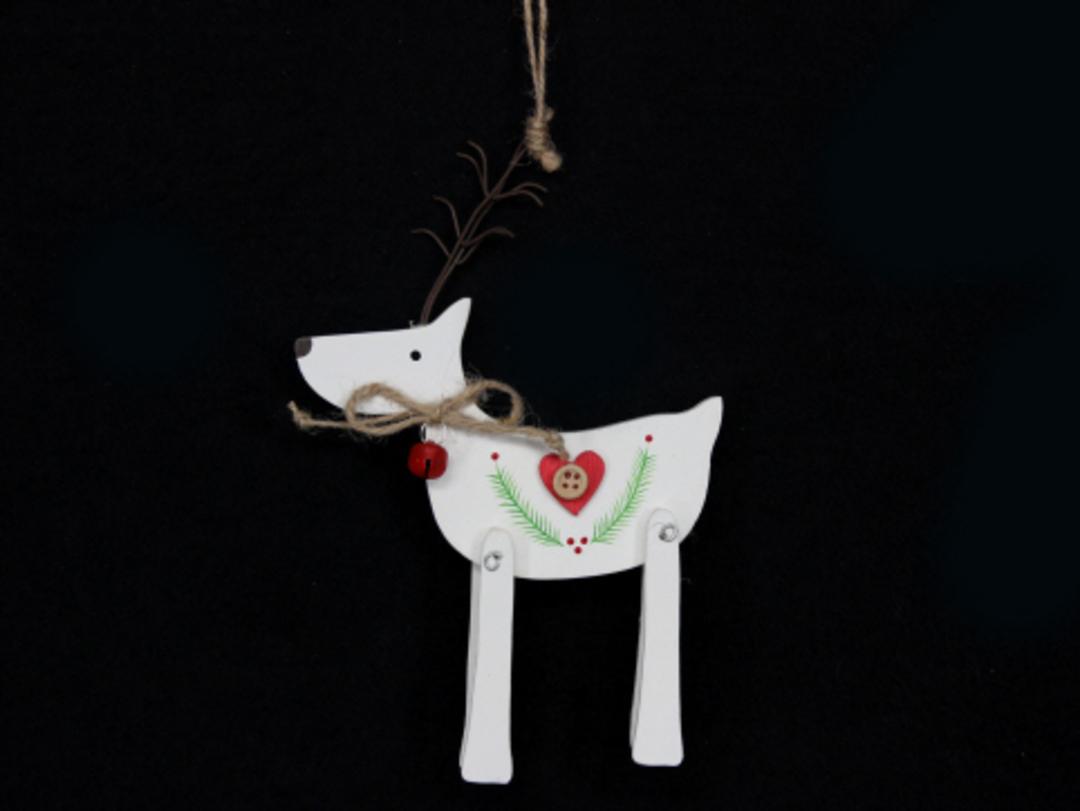 White Wood Deer 18cm image 0