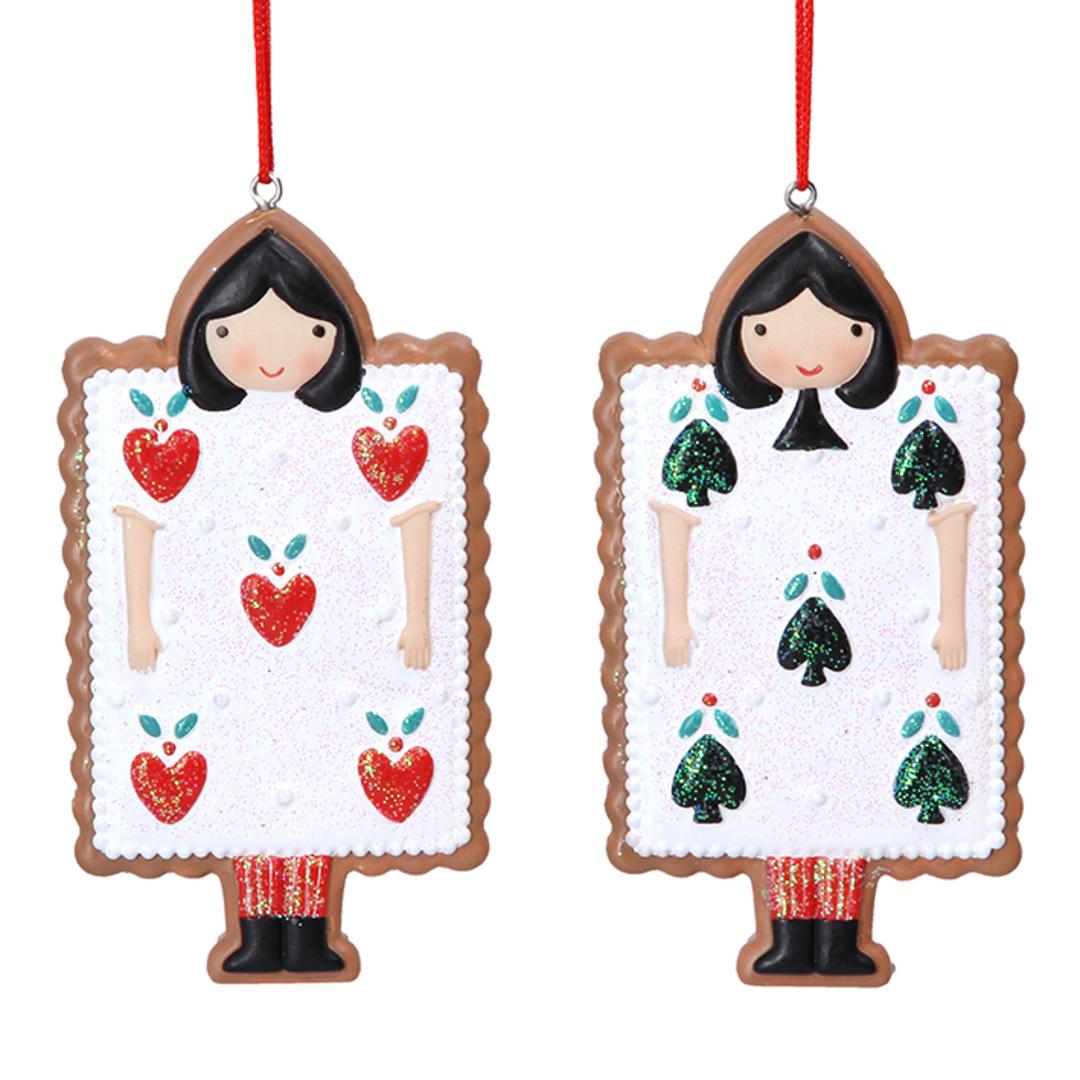 Resin Alice in Wonderland Gingerbread Card 9cm image 0