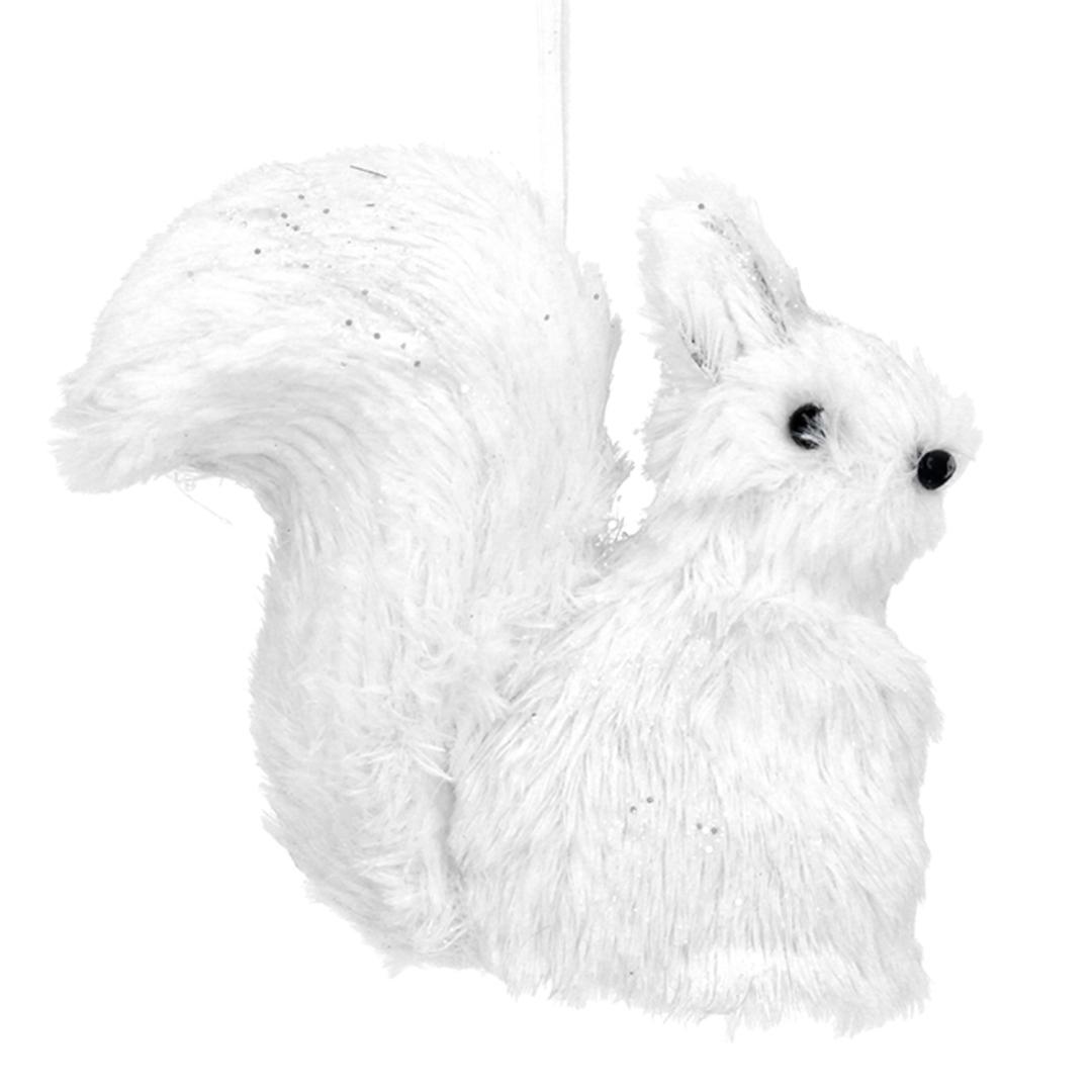 Faux Fur White Squirrel 13cm image 0