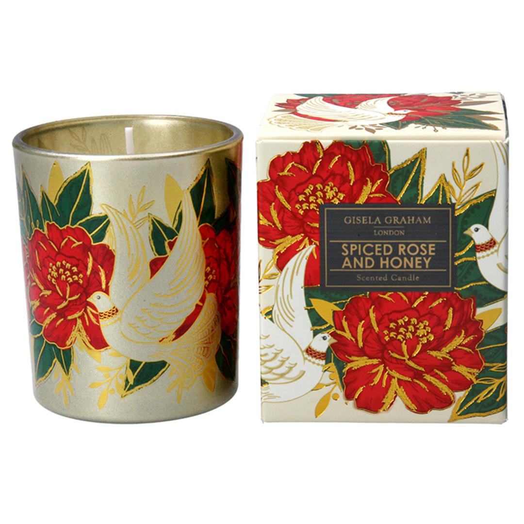 Doves & Roses, Candle Jar 8cm image 0