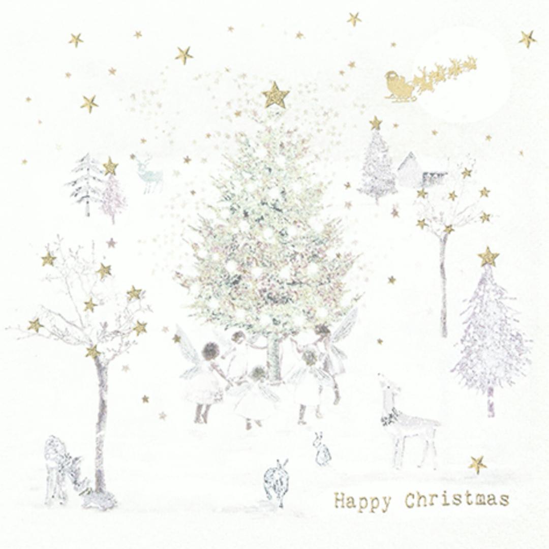 Paper Napkins 33cm, Happy Christmas image 0