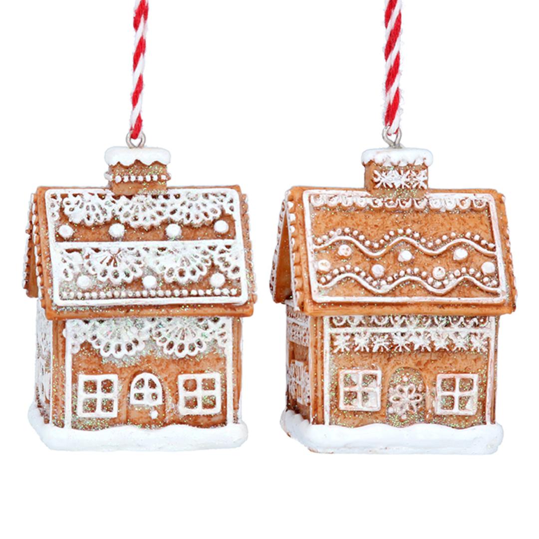 Resin Noel 3D Gingerbread House 6cm image 0