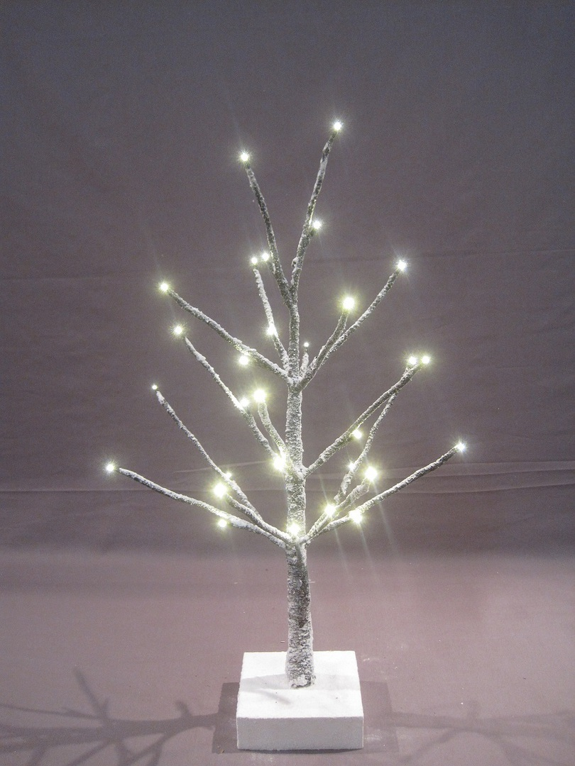 Snow Covered Twig Tree 60cm with 32 LED Lights image 0