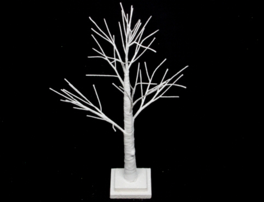 White Spiky Tree 70cm image 0