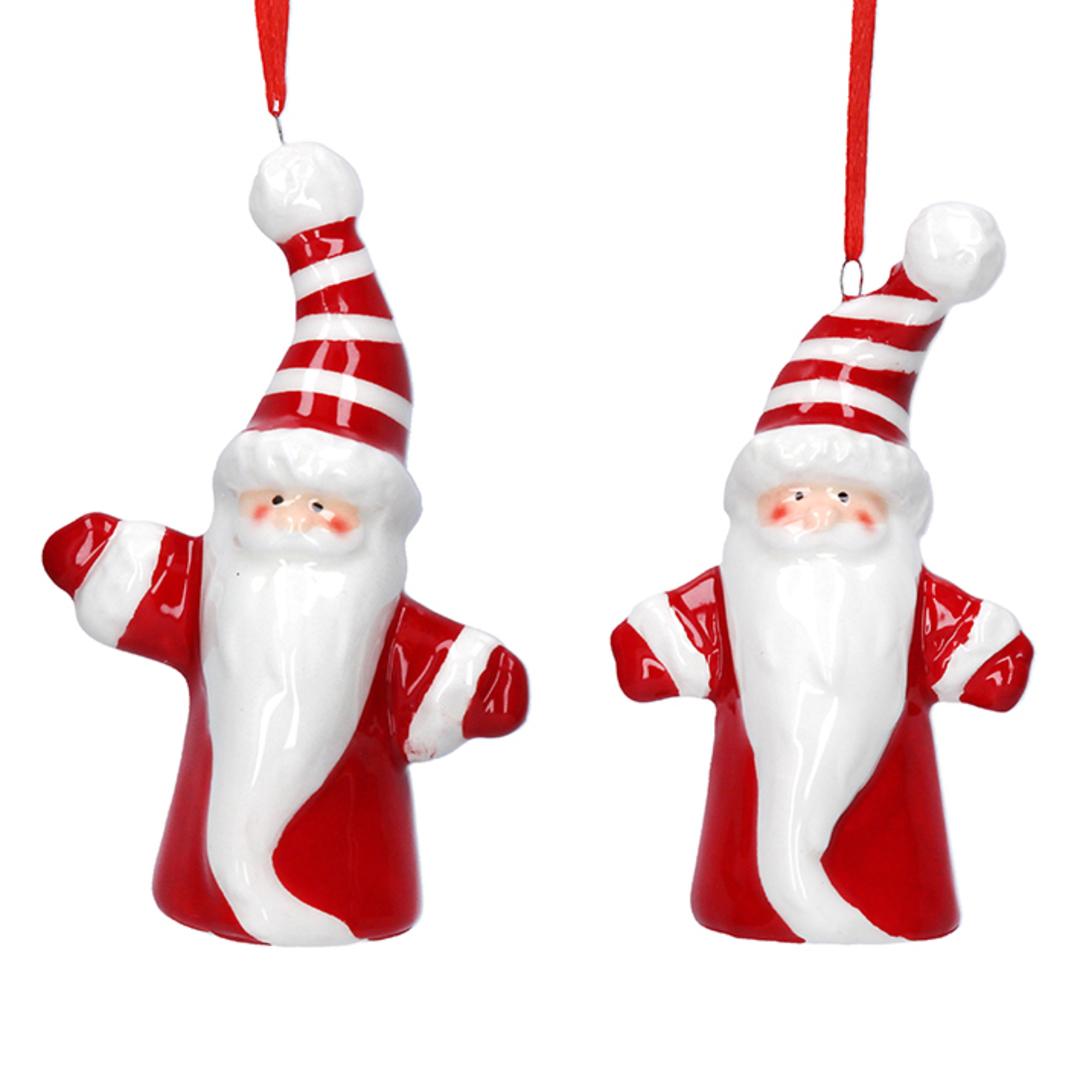 Ceramic Noel Red and White Santa 6cm image 0