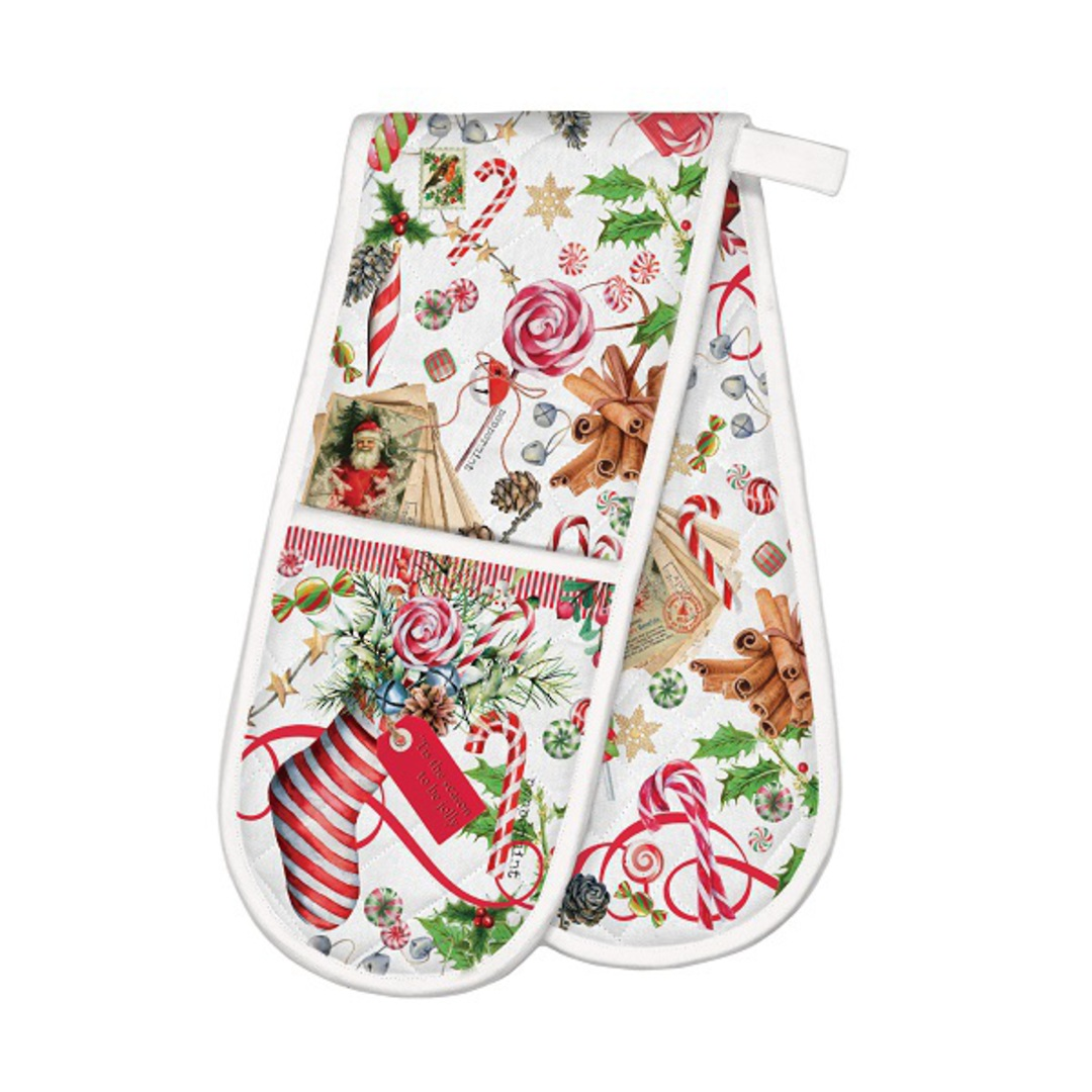 Christmas Peppermint Double Oven Glove image 0