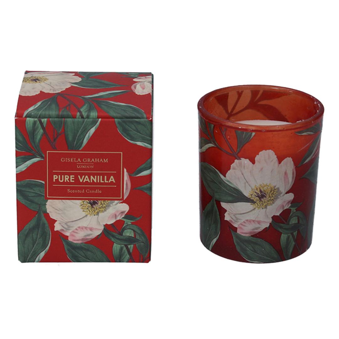 White Xmas Rose, Candle Jar 8cm image 0