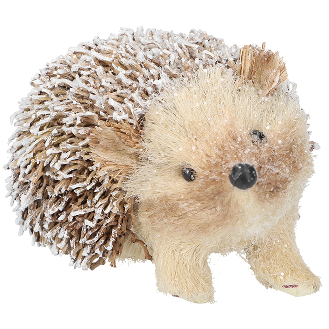 Snowy Bristle TwoTone Brown Hedgehog 13cm SOLD OUT image 0