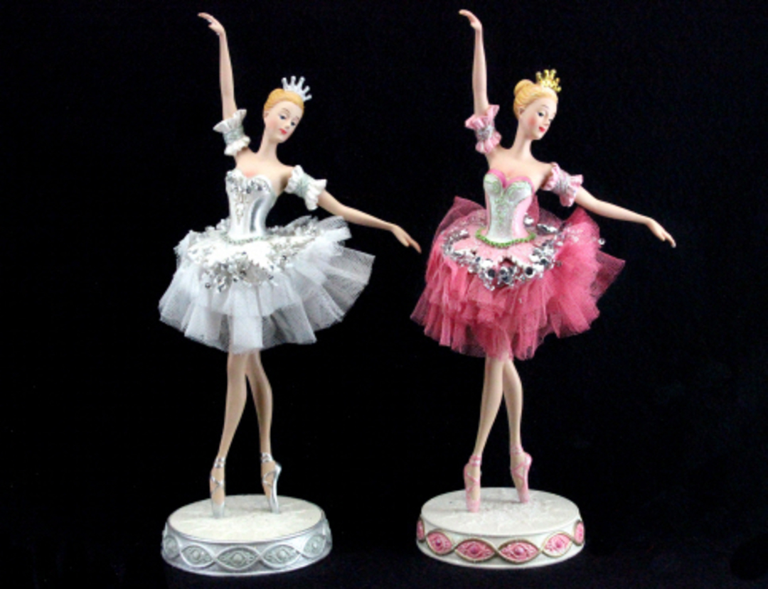 Resin and Fabric Ballerina in Pink Tutu 30cm image 0