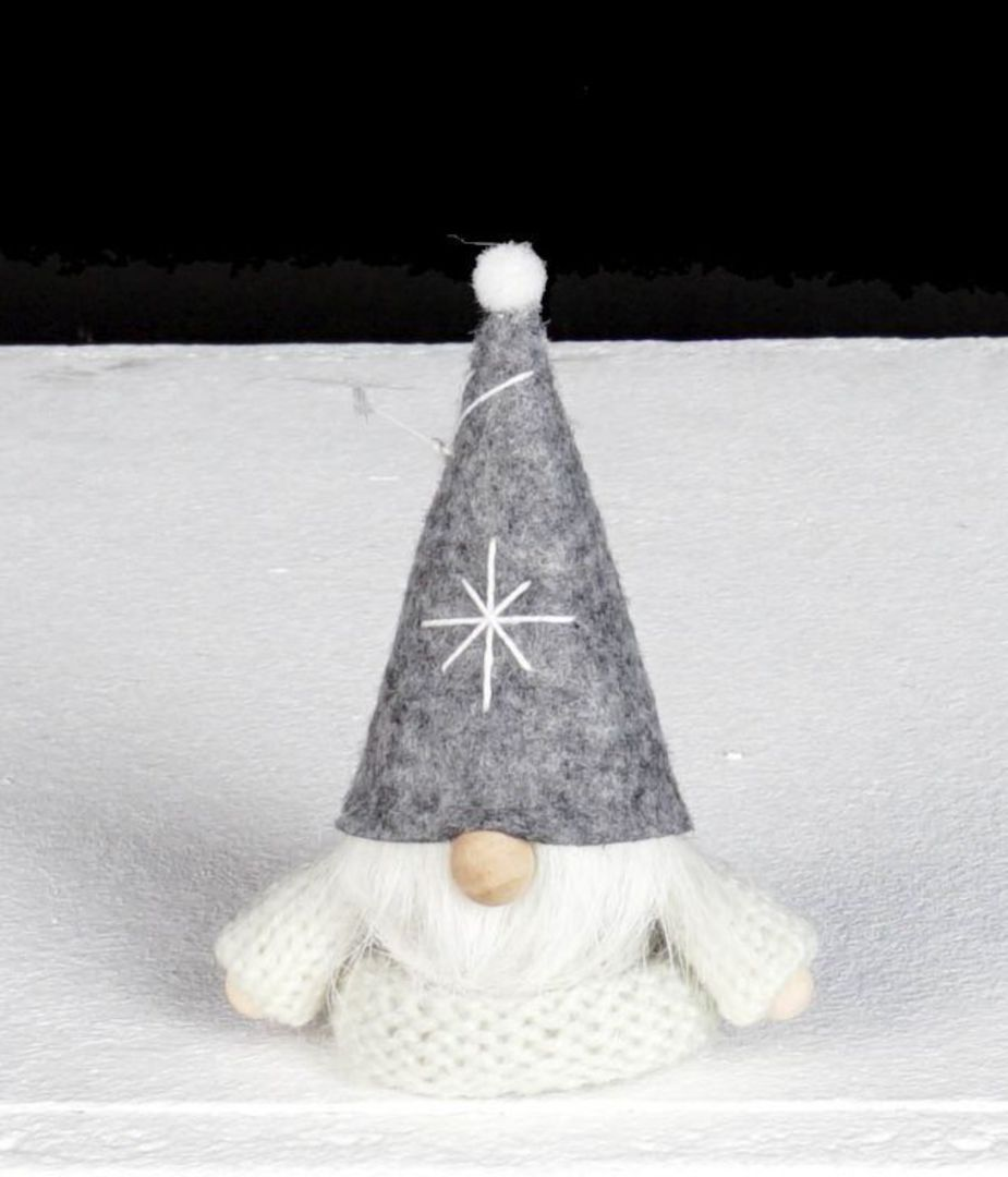 Santa, White Knit Jumper, Grey Hat image 0