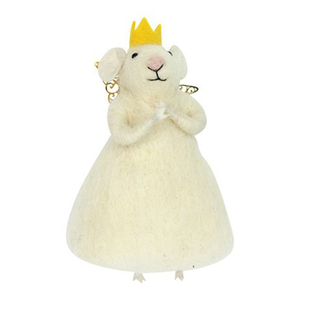 Wool White Princess Mouse 12cm image 0