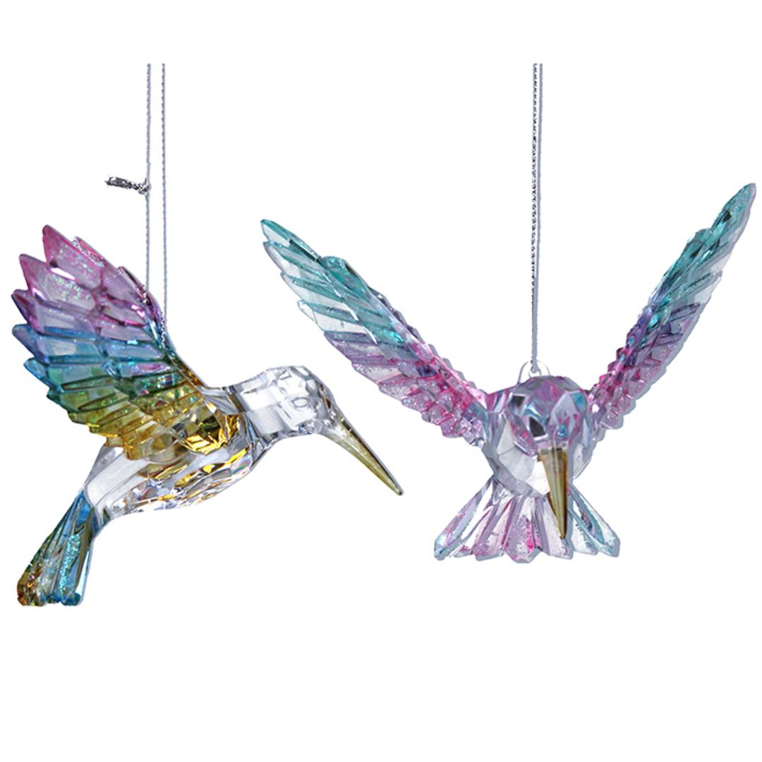 Rainbow Acrylic HummingBird 12cm image 0