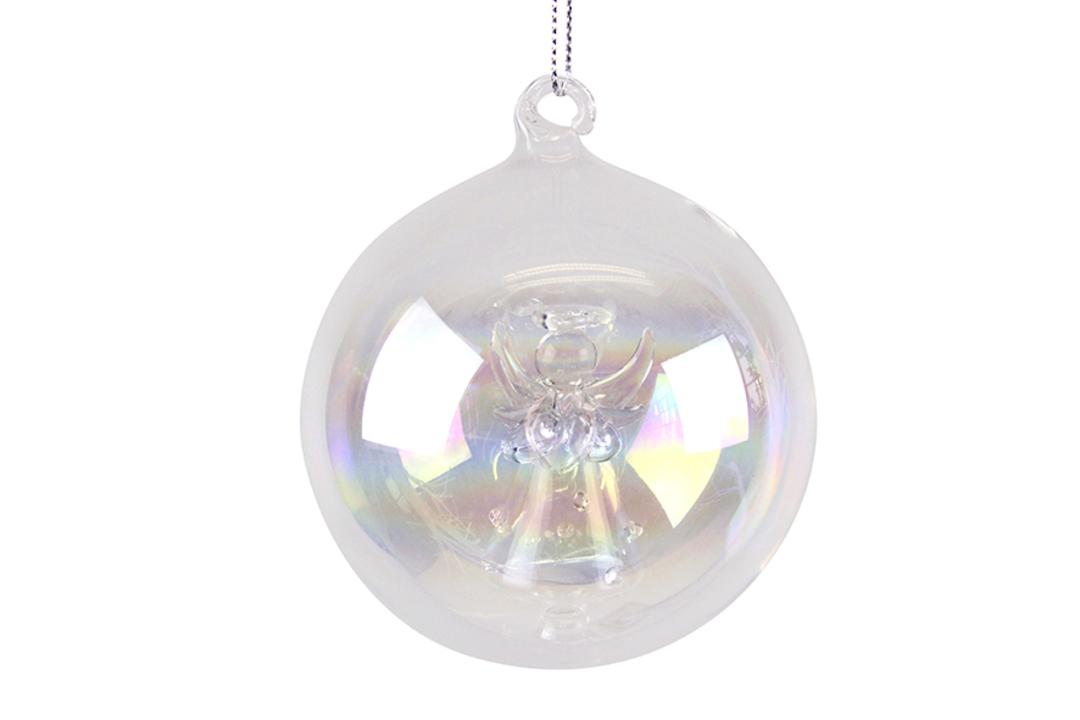 Glass Ball Iridescent, Angel Inside image 0