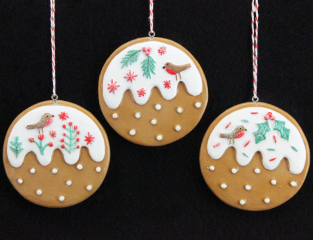 Resin Nordic Gingerbread Puddings image 0