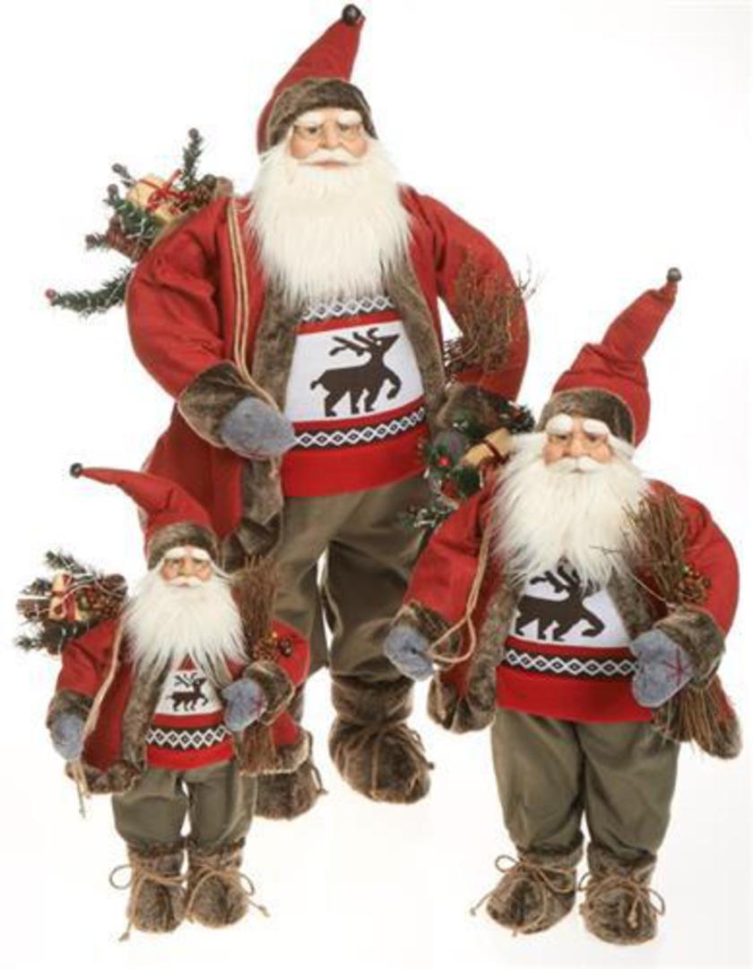 Santa Red Coat, Reindeer Jumper image 0