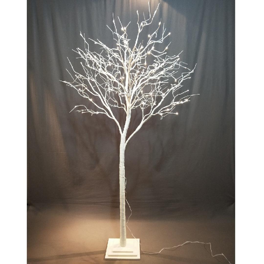White Shrub 2.5mtrs, 176 LED Lights image 0