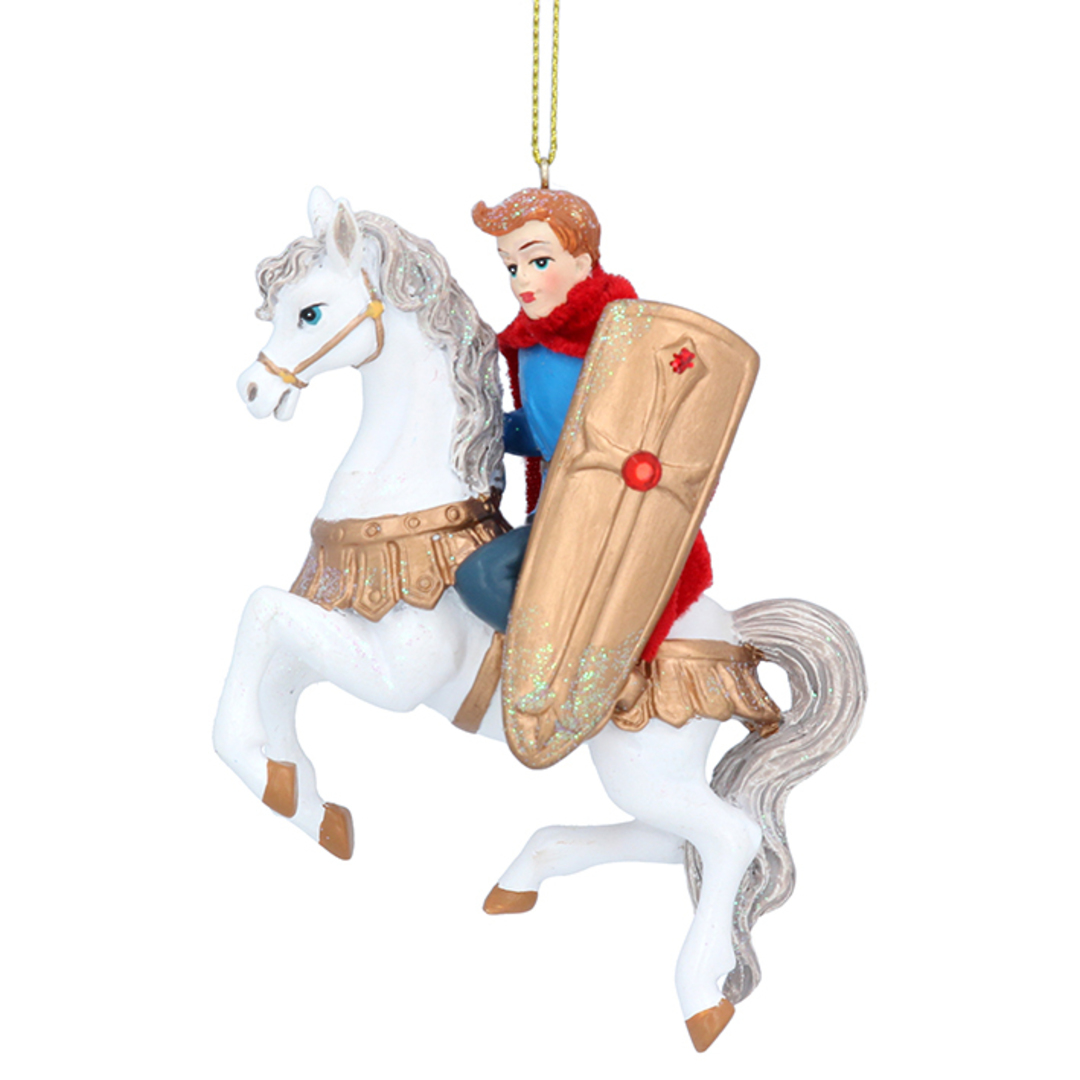 Resin Prince Charming on Horse 10cm image 0