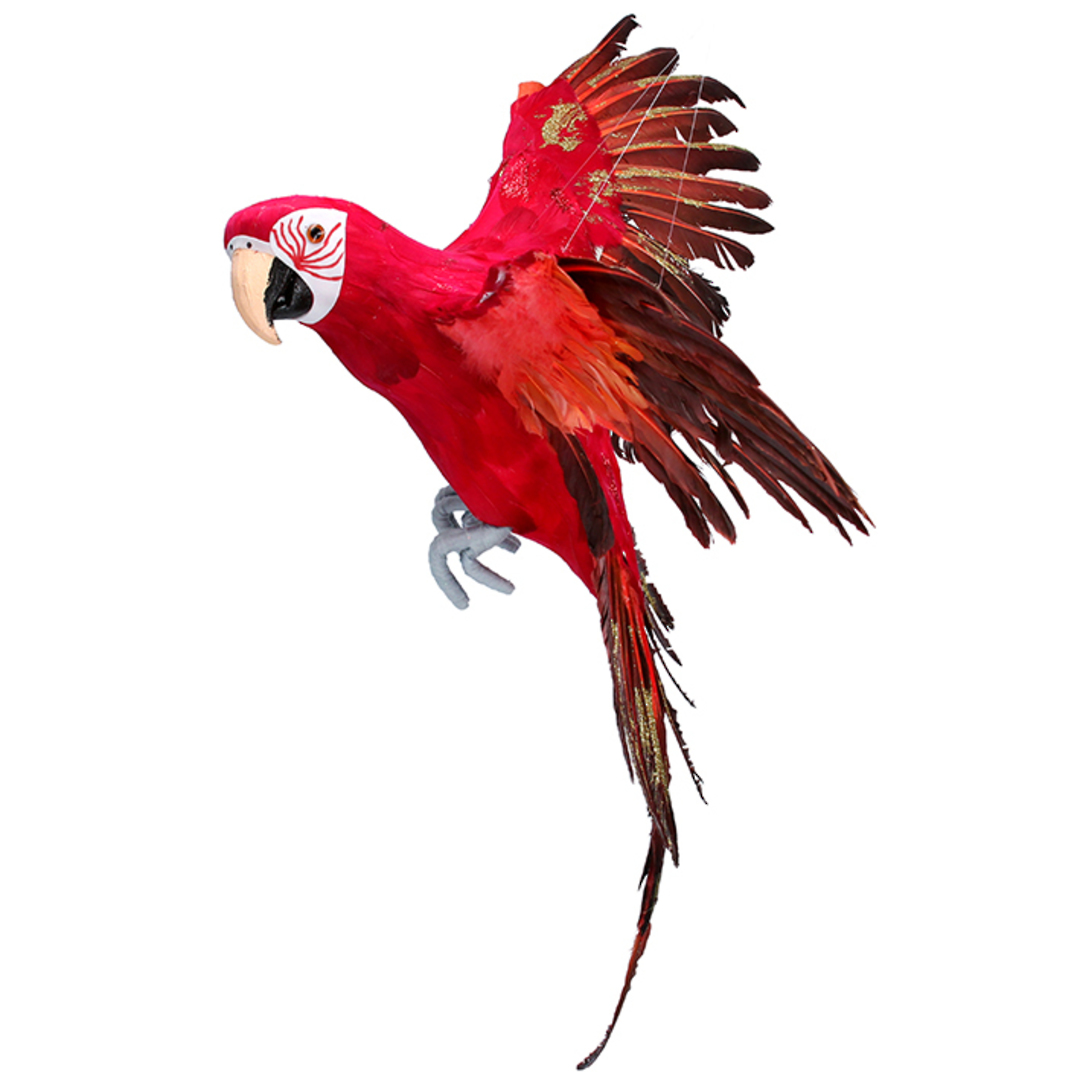 Flying Red Macaw 80cm image 0
