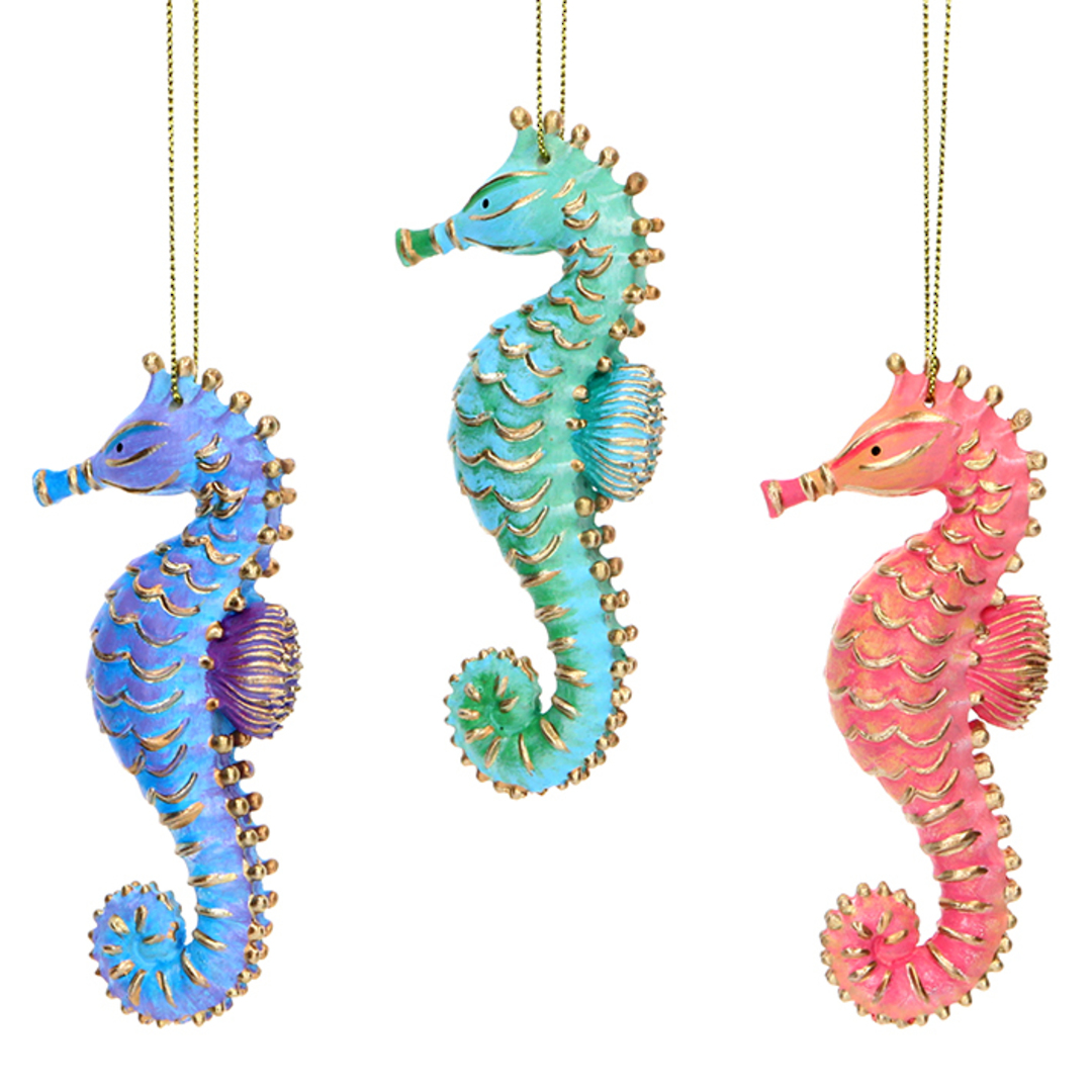 Resin Sea Kingdom Seahorse 10cm SOLD OUT image 0