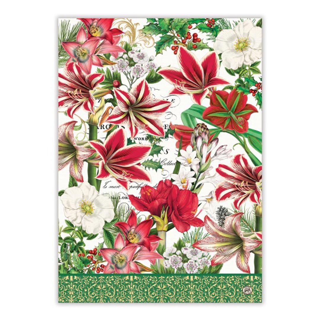 Merry Floral Christmas Tea Towel image 2