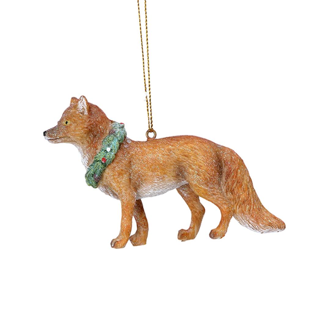 Resin UK Fox in Wreath Collar 8cm image 0