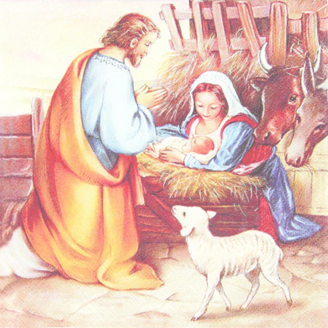 Paper Napkins 33cm, Jesus is Born image 0