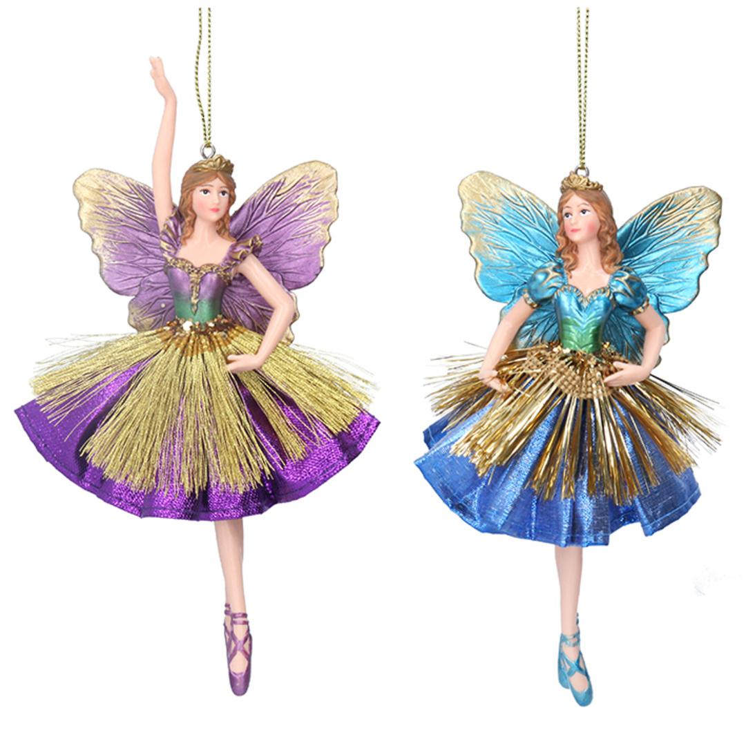 Resin Fabric Multi Colour Fairy 17cm image 0