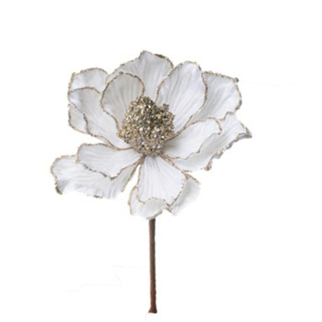 Velvet Cream Magnolia Pick 23cm image 0