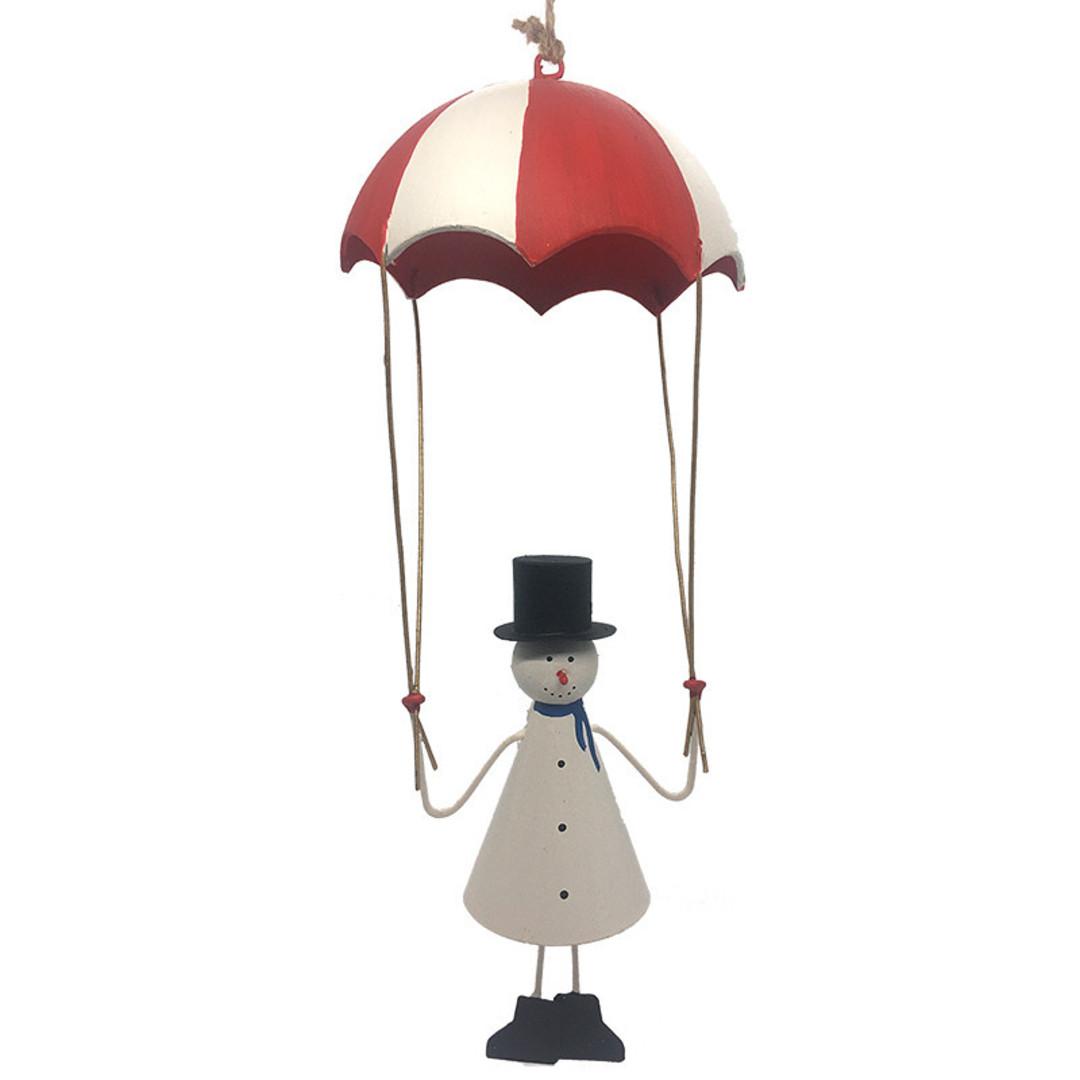 MAXI Tin Snowman under Parachute 28cm image 0