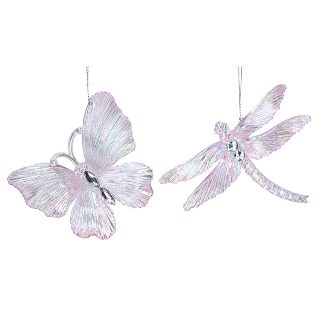 Pink Lustre Diamond Acrylic Insect 11cm image 0