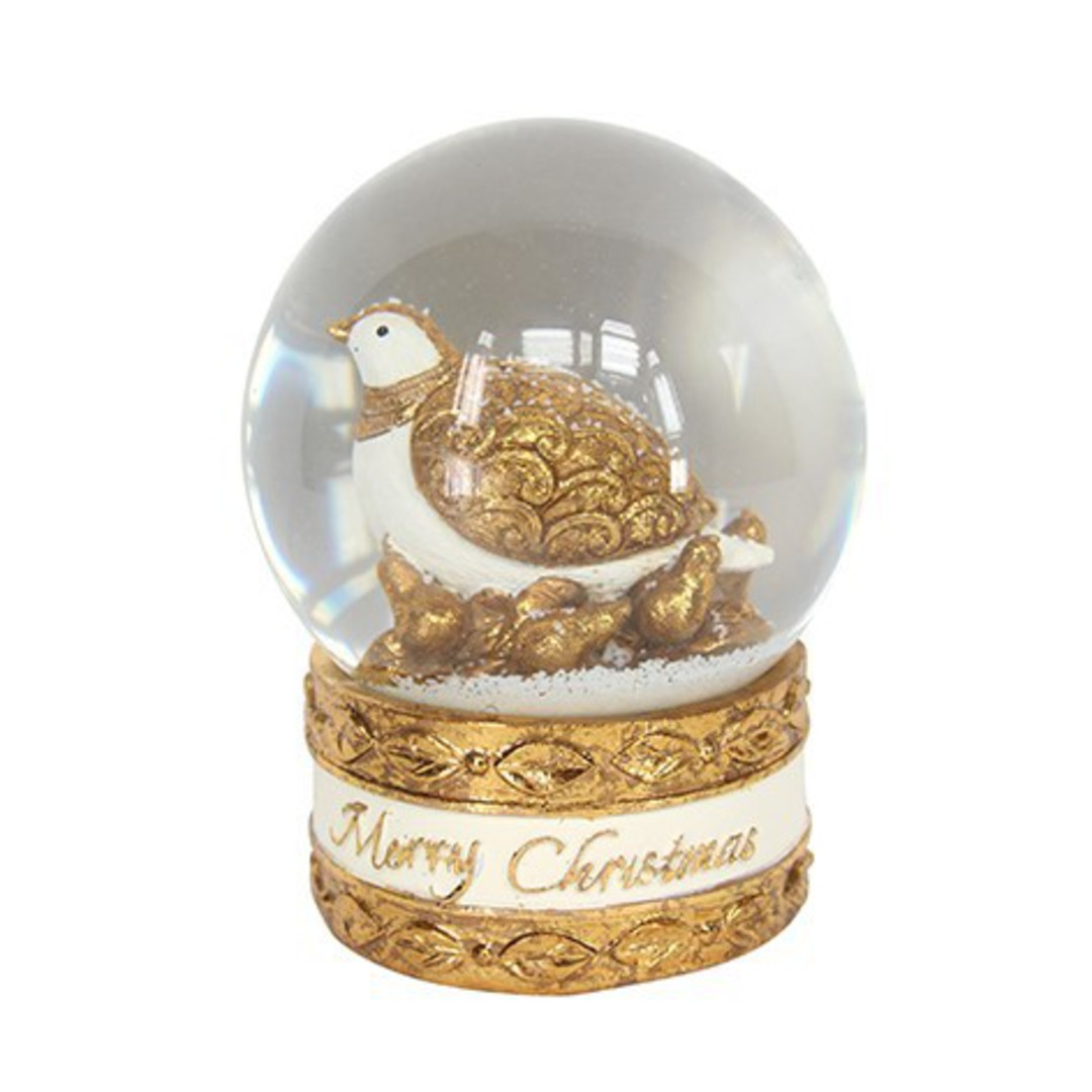 Musical Snow Globe, Partridge in Pear Tree image 0
