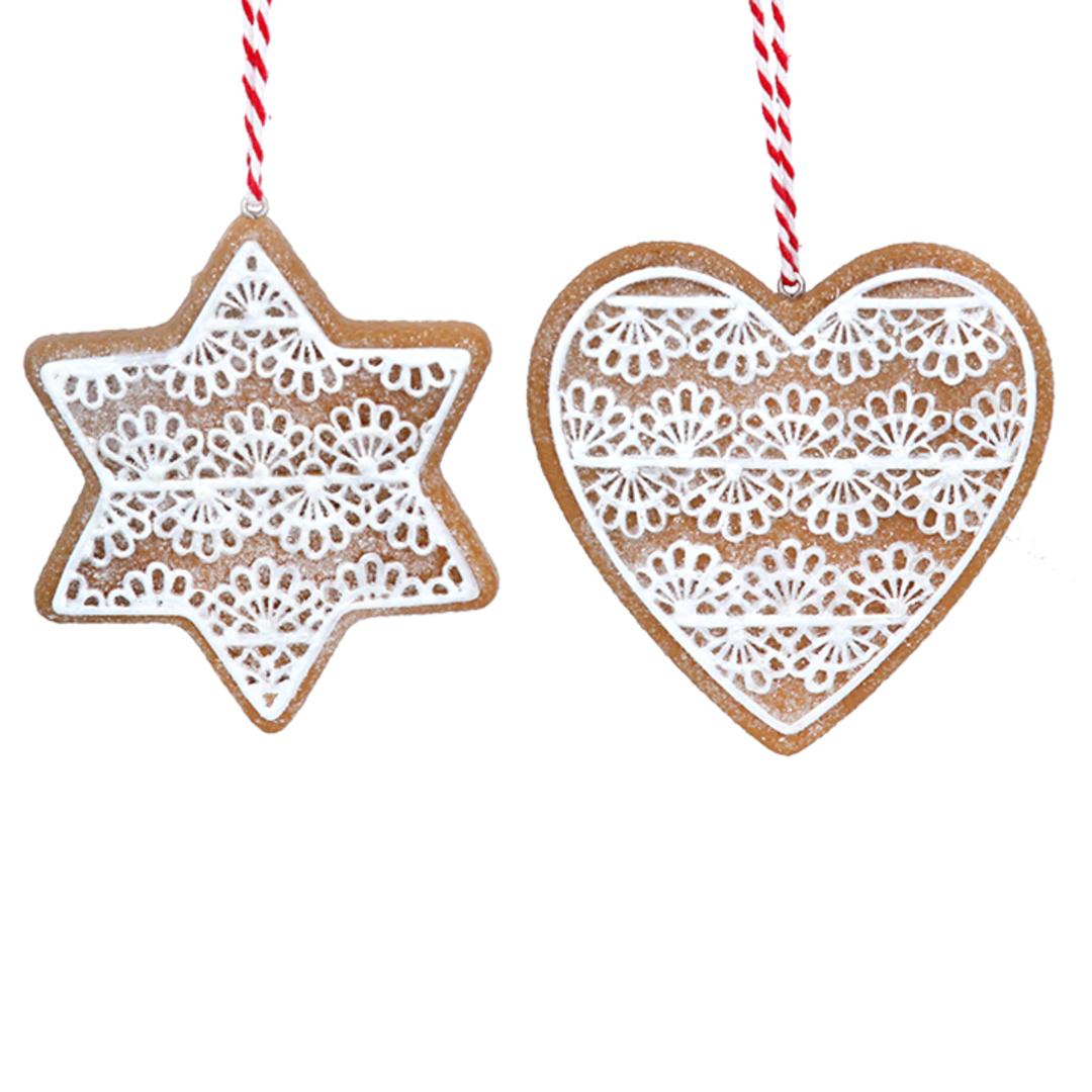 Resin Noel Gingerbread Cookie 8cm image 0