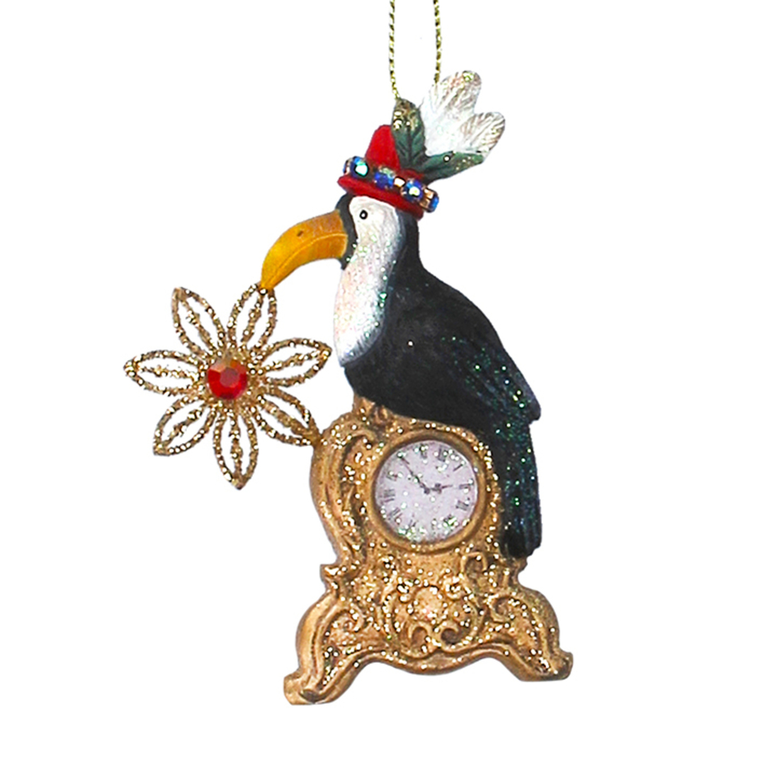 Resin Toucan on Clock 9cm image 0
