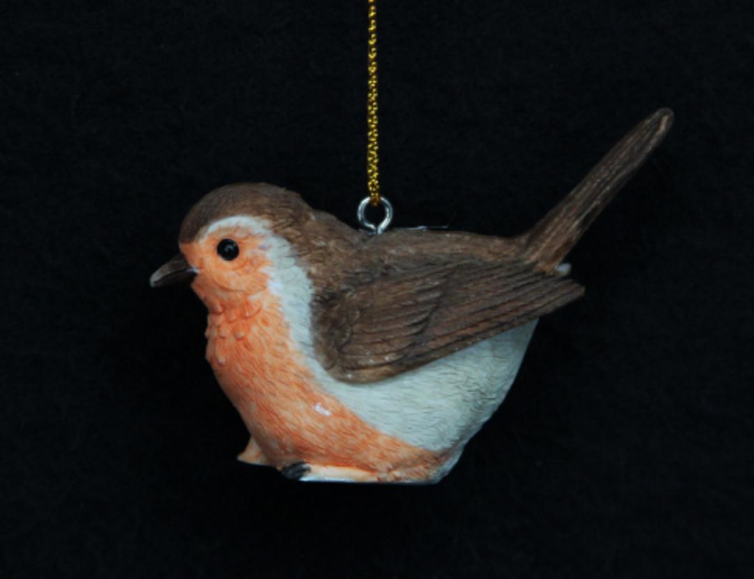 Hanging Resin Robin 6cm image 0