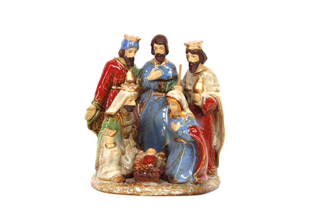 Ceramic Nativity Scene 15cm image 0