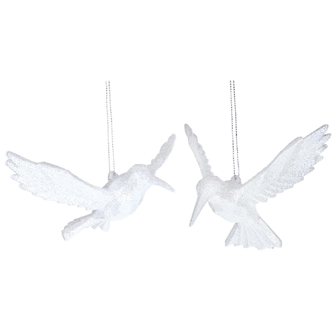 Acrylic White HummingBird 10cm image 0