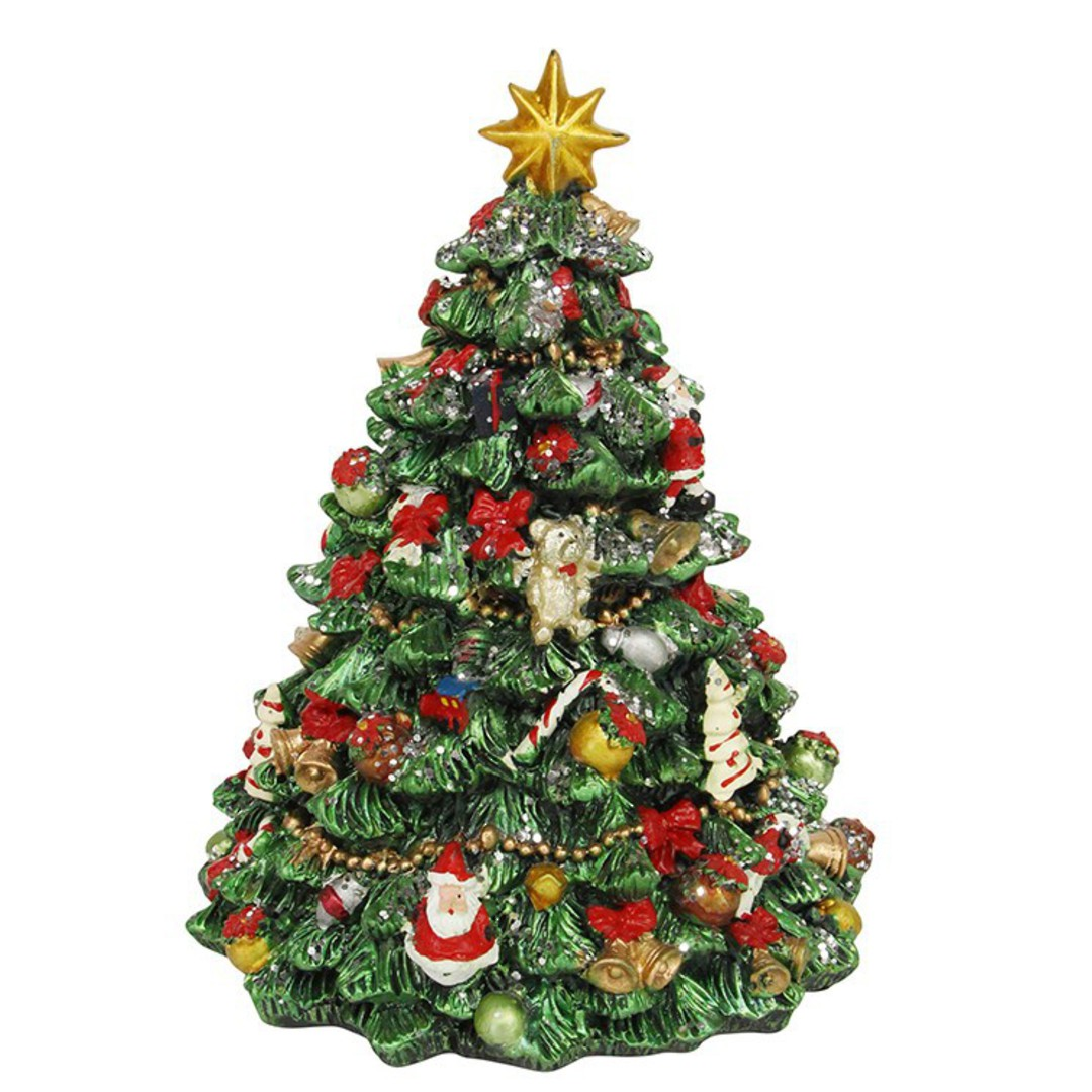 Musical Revolving Christmas Tree 21cm image 0
