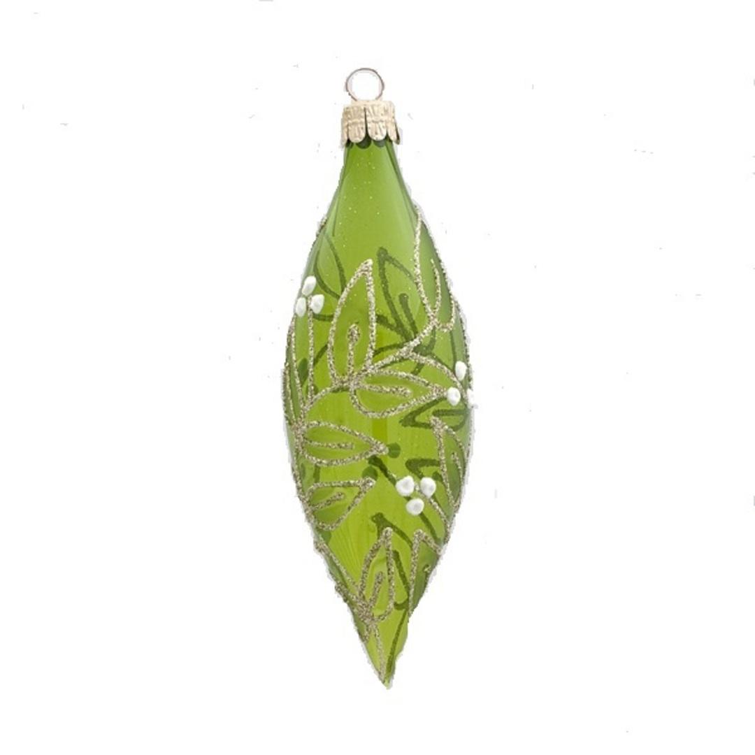 Glass Olive Trans Green, Mistletoe 15x5cm image 0