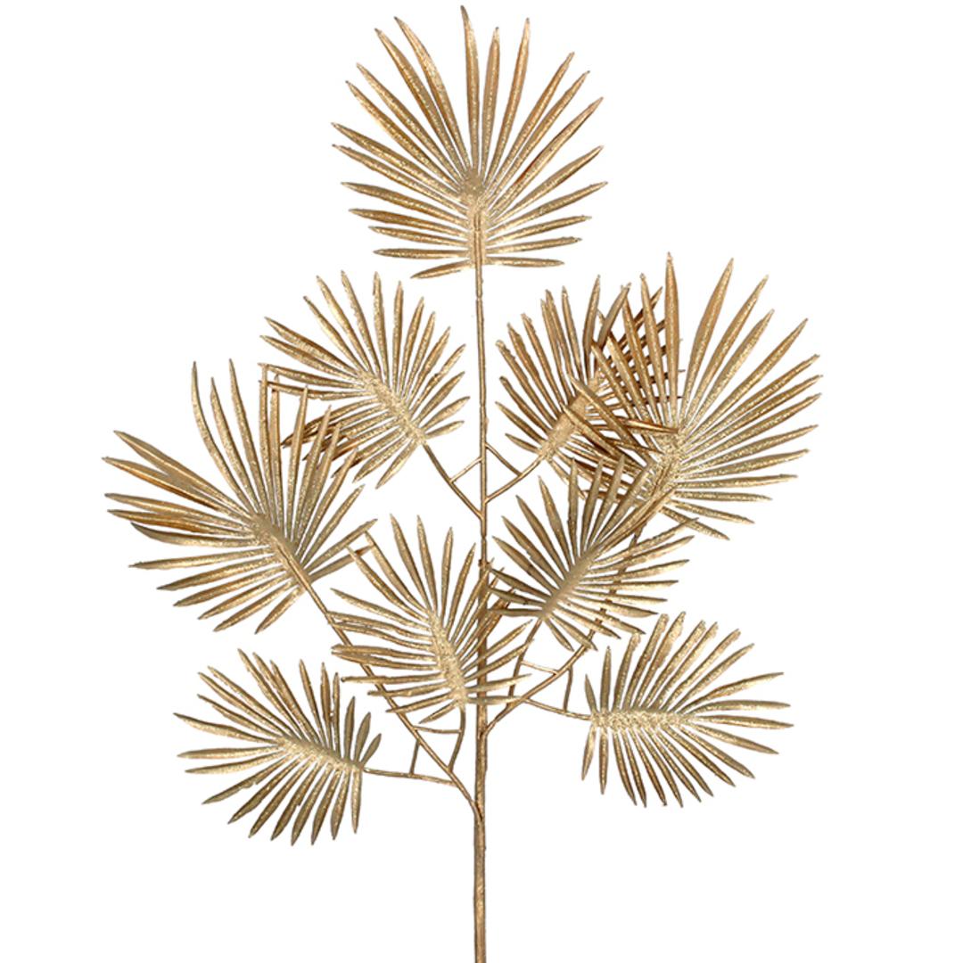Acrylic Gold Palm Leaf Spray 65cm image 0