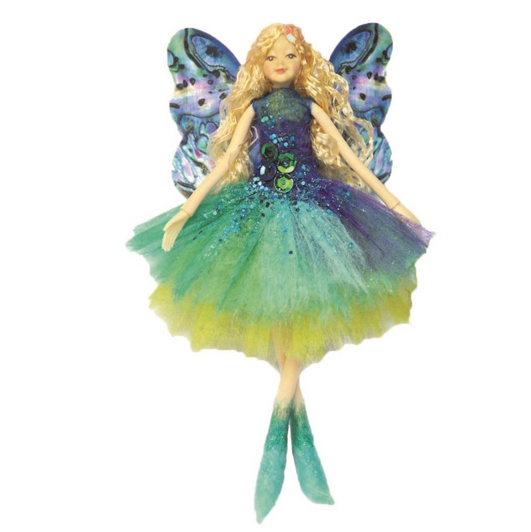 NZ Fairy, Teal Paua Shell 13cm image 0