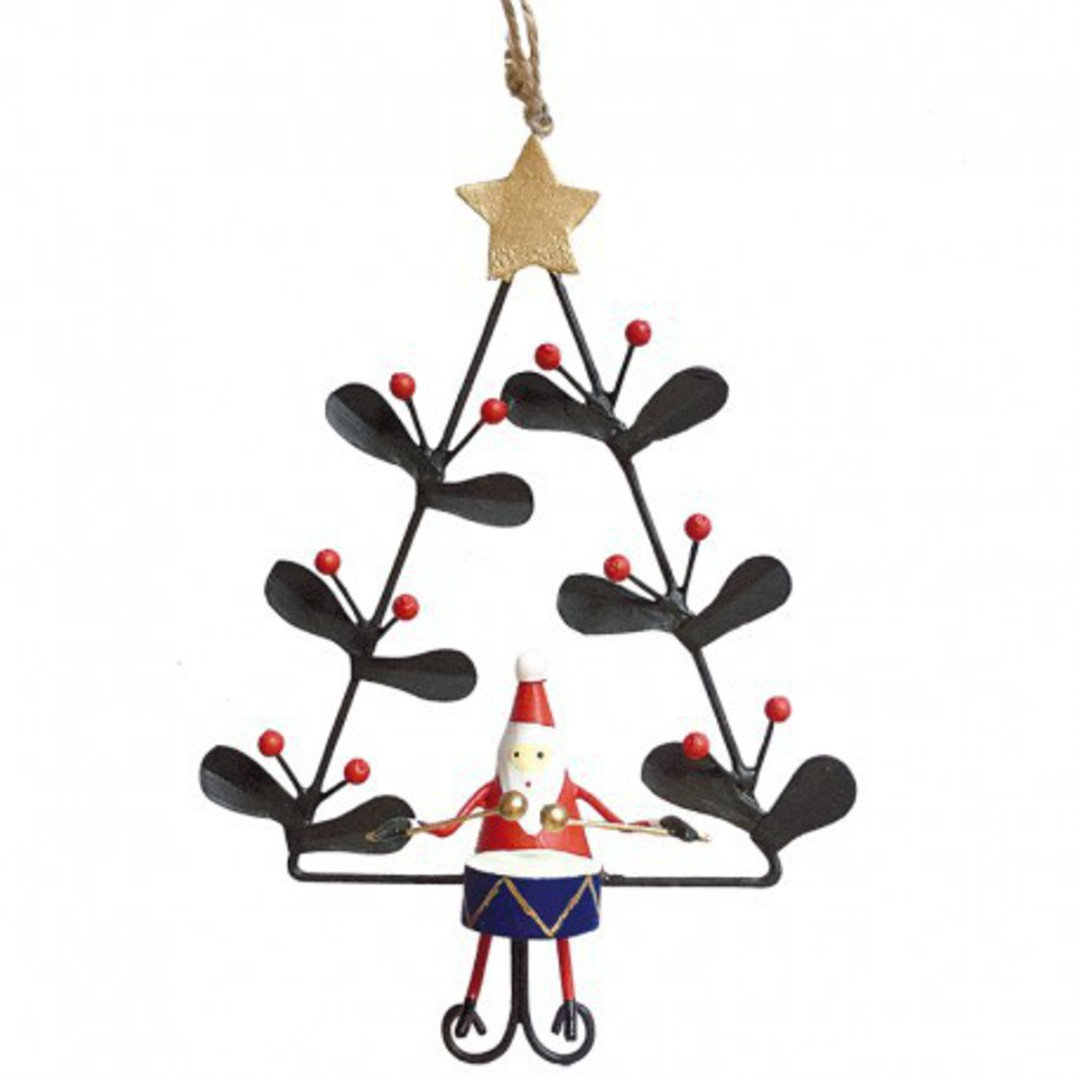 Tin Santa with Drum in Xmas Tree image 0