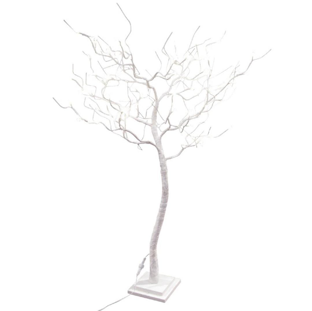 White Shrub 1.2mtrs, 78 LED Lights image 0
